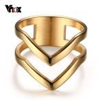 指輪 リング V シェブロン ステンレス リング レディース