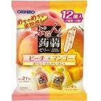 「オリヒロ」 ぷるんと蒟蒻ゼリーパウチ ピーチ+マンゴー (数量限定品) 20g×12個入 「...