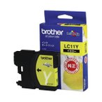 (まとめ) ブラザー BROTHER インクカートリッジ イエロー LC11Y 1個 〔×4セット〕