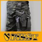 BHI CQCタイプホルスターセット Glock 17/22 マガジン/ライトフォルダー付 BK