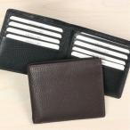 ショッピング牛革 牛革 カード12枚収納ダブルカードケース 二つ折り財布(小銭入れなし)札入 2260
