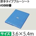 ブルーシート #3000 3.6×5.4m [重量約2.85kg/1枚入] 2.0間×3.0間(約12畳)/ハトメ数20(90cmピッチ) [FA]