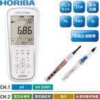 堀場製作所(HORIBA) ポータブル型pHメータ D-74SE/pH電極/電気伝導率電極セット