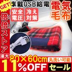 電気ひざ掛け 毛布 ブランケット 車 USB式 内蔵ヒーター 電気ブランケット 加熱毛布と足敷き 電気毛布 USB給電 冬物家電 電気もうふ