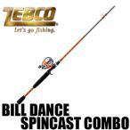ゼブコ ビル ダンス スピンキャスト コンボ Bill Dance Rod and Reel Spincast Combo