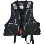 お買得品 ライフジャケット FV-6110 笛付き ブラック (フローティングベスト 大人用) (釣り具)