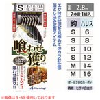 まるふじ 喰わせ獲りサビキ 7本サバ皮 D-079 (タテ釣り仕掛け) M-14