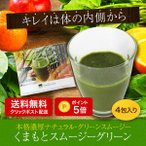 ショッピングダイエット 送料無料 ポイント5倍 無添加 酵素 美容 くまもとスムージーグリーントライアル