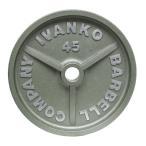【Φ50mmバーベルプレート】IVANKO(イヴァンコ)OMK オリンピックペイントプレート 2.5kg(リーズナブルな50mmプレート)