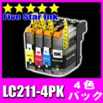 ブラザーインクカートリッジ プリンターインク LC211-4PK 4色 インク DCP-J968N J963N J962N J767N J762N J567
