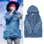 送料無料◆BIGBANG GD 韓版 コート 厚カウボーイウェア クラスの服 厚い G-DRAGON ( ジードラゴン BIGBANG ) ファッション 10周年記念 応援 ジャケット
