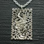 ペンダント 仏像 迷企羅大将 メンズ シルバー925 ネックレス 板彫 めきら