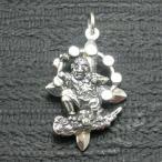 ペンダント 雷神 仏像 メンズ シルバー925 クロス