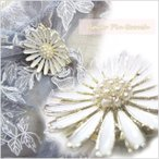 ブローチ スカーフ止め 白い花の可愛くエレガントなピンブローチ