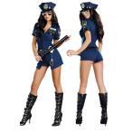 ハロウィン コスプレ 衣装 コスチューム 警察 婦人警官 ポリス 大人 4点セット オールインワン B969