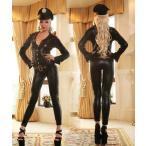 コスプレ 衣装 キャットスーツ 仮装 コスプレ ボンデージ 女王様 エナメル 警察 婦人警官 B977