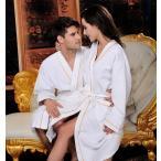 バスローブ レディース メンズ ナイトガウン ワッフル パジャマ ルームウェア ロングガウン ホテル 純白 着る毛布 風呂 B998