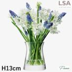 LSA International FLOWER/ フラワーベース 花瓶 クリアガラス 高さ130 mm
