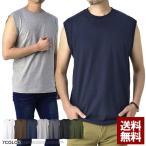 ノースリーブ Tシャツ メンズ トップス ランクルT 無地 綿コーマ糸使用 ゆったりワイド タンクトップ カットソー C6M【パケ3】