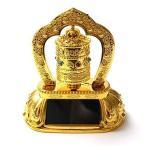 ソーラー マニ車 太陽光 西蔵 (チベット) 仏教 転経器 マニコロ 法具 仏具