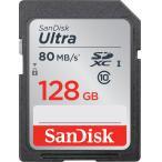◇    【128GB】 SanDisk サンディスク Ultra SDXCカード CLASS10 UHS-I R:80MB/s 海外リテール SDSDUNC-128G-GN6IN ◆メ