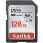 128GB SDXCカード SDカード SanDisk サンディスク Ultra UHS-I U1 R:100MB/s 海外リテール SDSDUNR-128G-GN6IN ◆メ