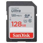 128GB SDXCカード SDカード SanDisk サンディスク Ultra UHS-I U1 R:120MB/s 海外リテール SDSDUN4-128G-GN6IN ◆メ