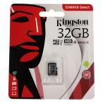 32GB microSDHCカード マイクロSD Kingston キングストン Canvas Select Class10 UHS-1 R:80MB/s SDアダプタ付 海外リテール SDCS-32GB ◆メ