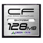 ◇    【128MB】 GREENHOUSE グリーンハウス コンパクトフラッシュ70倍速 最大10MB/s ハードケース付 GH-CF128MC ◆メ