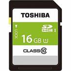 ◇ 【16GB】 TOSHIBA 東芝 EXCERIA SDHCカード Class10 UHS-I U1対応 R:80MB/s 海外リテール THN-N202N0160A4 ◆メ