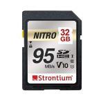 32GB SDHCカード SDカード Strontium Nitro Class10 UHS-I U1 V10 R_95MB/s 海外リテール SRN32GSDU1QR ◆メ