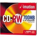 Imation �ǡ�����CD-RW 700MB 4��®�б� 1�� 10mm���������� ����С��졼�٥� �������å����б� CDRW80A