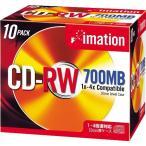 imation �ǡ����� CD-RW 1-4��®�б� 700MB 10mm���奨�륱�������� 10��ѥå� ��������졼�٥� ����С� CDRW80AX10S