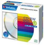 【お取り寄せ】Verbatim データ用CD-RW 700MB 4倍速 10枚 シルバーレーベル バーベイタム SW80QU10V1