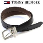 TOMMY HILFIGER(トミーヒルフィガー) ベルト メンズ 人気 メンズベルト 革 レザー リバーシブル BLACK/BROWN 誕生日 プレゼント
