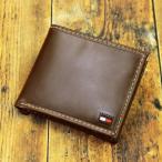 ショッピング トミーヒルフィガー 財布 メンズ 二つ折り財布 牛革 ブランド財布 人気 ブラウン