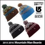 15-16 BURTON バートン ニット帽 モデル MENS メンズ  Mountain Man Beanie  スノーボード ビーニー 帽子  日本正規品  「メール便不可」【返品種別SALE】