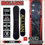 16-17 ALLIAN snowboard  アライアン スノボー 板 ボード PRISM INVISIBLE プリズムインビジブル  入荷済み