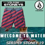 VOLCOMステッカープレゼントボルコムメンズサーフパンツ海パン水着StripeyStoney19インチLENGTHボードショーツ