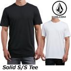 ショッピングボルコム ボルコム tシャツ volcom メンズ Solid S/S Tee 2018 春夏半袖 半そで 無地 VOLCOM Mens  メール便可