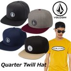 ショッピングボルコム ボルコム キャップ volcom メンズ Quarter Twill Hat スナップバック VOLCOM  帽子 メール便不可