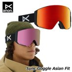 19-20 ANON アノン ゴーグル Sync シンク スペアレンズ付き Goggle Asian Fit ship1【返品種別OUTLET】
