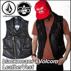 volcom ボルコム レザーベスト メンズ /新作/ blackmeans xVolcom LeatherVest  アウター トップス / VOLCOM ヴォルコム 【返品種別SALE】