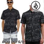 ショッピングボルコム ボルコム シャツ メンズ Drag Dot S/S シャツ ウェットプリントシャツ volcom 半袖 半そで メール便不可