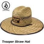 ショッピングボルコム ボルコム 麦わら帽子 volcom ストローハット メンズ  Trooper Straw Hat ハット D5521803 VOLCOM  帽子 メール便不可