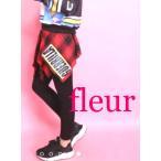 ショッピングレギンス スカート付き レギンス レディース 腰巻き シャツ 巻き スカッツ スパッツ 黒 赤 ウエストゴム