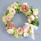 ショッピングリース フラワーリース 送料無料 桃色リース30cm 結婚式