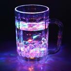 LEDセンサーネオングラス 飲み物を注ぐとLED内蔵のグラスがレインボーカラーに点滅光る グラス コ ...