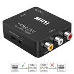 HDMI to RCA 変換コンバーター GANA HDMI to AV コンポジット HDMIからアナログに変換アダプタ 1080P 音声出力可 U