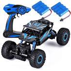 ラジコンカー RCカー 2つのバッテリー 付 2.4GHZ 4WD オフロードリモコンカー ラジコンオフロード 四駆 電動オフロードバギー バギー 男